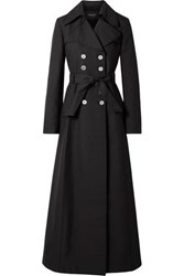 Giambattista Valli Woven Trench Coat Black