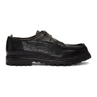Officine Creative Black Volcov 001 Lace Up Moccasins