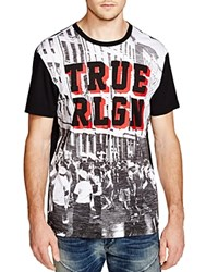 True Religion Block Party Graphic Slim Fit Tee Black