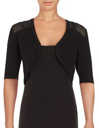 Jessica Simpson Open Front Knit Shrug Black