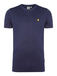 Lyle And Scott Men's Sports Crew Neck Short Sleeve T Shirt Navy