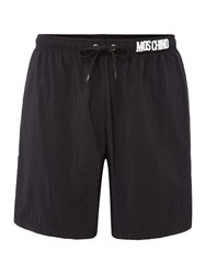 Moschino Men's Medium Plain Shorts Black