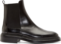 Yang Li Black Premium Leather Chelsea Boots