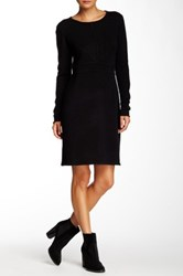 Cullen Seamed Cashmere Sweater Dress Black