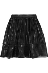 Maje James Coated Mesh Skirt Black