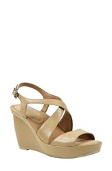 L'amour Des Pieds Women's Ilanna Wedge Sandal Nude Leather