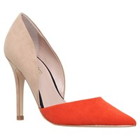 Miss Kg Shannon Pointed Toe Stiletto Court Shoes Camel Red