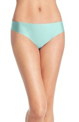 Women's Halogen 'No Show' Thong Teal Fair