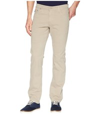 Ag Adriano Goldschmied The Graduate Tailored Straight Sueded Stretch Sateen Burch Casual Pants Brown