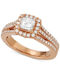 Marchesa Celeste Halo By Certified Diamond Engagement Ring 1 1 5 Ct. T.W. In 18K White Yellow Or Rose Gold Created For Macy's