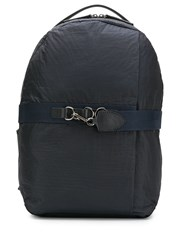 Mismo Hook Strap Padded Backpack Blue
