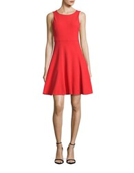 Betsey Johnson Sleeveless Fit And Flare Dress Coral