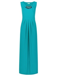 Planet Beaded Maxi Dress Teal