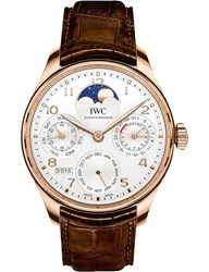 Iwc Iw503302 Portugieser Moonphase Perpetual Calendar Chronograph Watch Brown