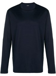 Z Zegna Loose Fitted Sweatshirt Blue