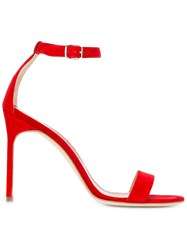 Manolo Blahnik Chaos 105 Sandals Red