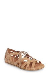 Gentle Souls Women's 'Orly' Lace Up Sandal Natural Cork