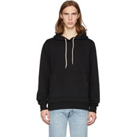 Naked And Famous Denim Ssense Exclusive Black Cotton Hoodie