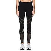 Electric Yoga Metallic Inset Leggings Black