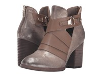 Isola Ladora Anthracite Distressed Foil Suede Women's Boots Brown