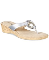 Easy Street Shoes Tuscany Fina Sandals Women's Silver
