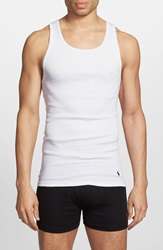 Polo Ralph Lauren Classic Ribbed Tank 3 Pack White White