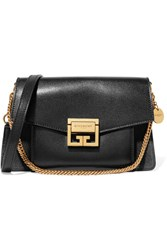 Givenchy Gv3 Small Textured Leather And Suede Shoulder Bag Black Gbp