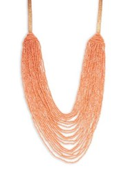 Design Lab Lord And Taylor Long Beaded Necklace Coral