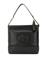 Tory Burch Fleming Hobo Shoulder Bag Black