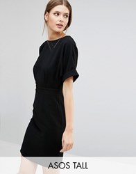 Asos Tall Wiggle Mini Dress Black