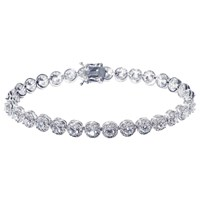 Ivory And Co. Round Cubic Zirconia Pave Tennis Bracelet Silver