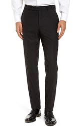 Ted Baker Men's London Jerome Flat Front Solid Wool Trousers Black