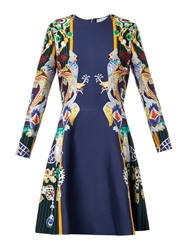 Mary Katrantzou Chrono Dragon And Parrot Print Dress