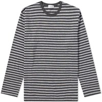 Nanamica Coolmax Stripe Long Sleeve Tee Grey