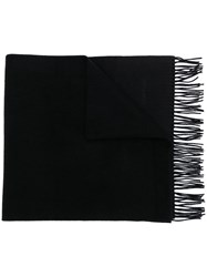 Tom Ford Fringed Embroidered Logo Scarf 60