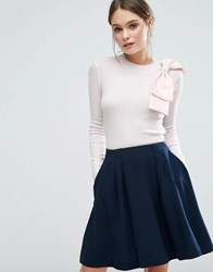 Ted Baker Nehru Knit Top Pink