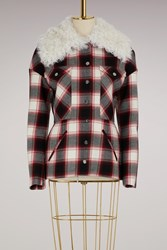 Moncler Gamme Rouge Luna Check Wool Jacket Multi