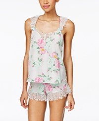 Betsey Johnson Lace Trim Tank And Shorts Set 7311113 Floral
