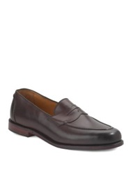 Ralph Lauren Burnished Penny Loafers Dark Brown