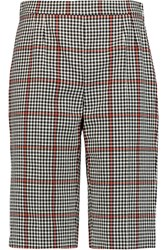 Dolce And Gabbana Checked Cotton Blend Shorts Red