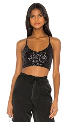 Only Hearts Club Sequin Tank In Black.