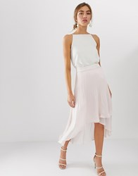 Coast Amy Pleated High Low Skirt Pink