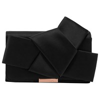 8a0838d588b4c8 John Lewis. Save. Ted Baker Fefee Knot Bow Evening Bag Black