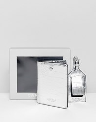 Carvela Passport Holder And Luggage Tag Set Silver