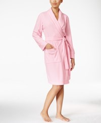 Charter Club Printed Short Robe Only At Macy's Rosy Pink