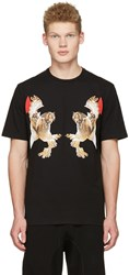 Neil Barrett Black Two Owl T Shirt