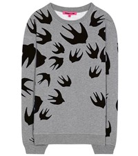 Mcq By Alexander Mcqueen Printed Cotton Sweatshirt Grey