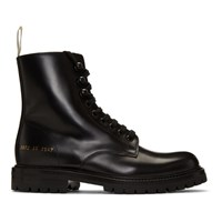 Common Projects Woman By Black Combat Lug Sole Boots