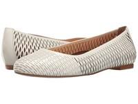 Walking Cradles Blaire White Accordion Perfed Soft Maia Women's Flat Shoes