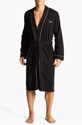 Men's Boss Black Cotton Robe